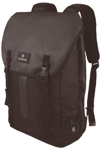 Flapover Drawstring Laptop Backpack
